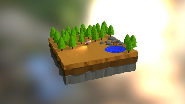 Blender Low Poly  3D Model