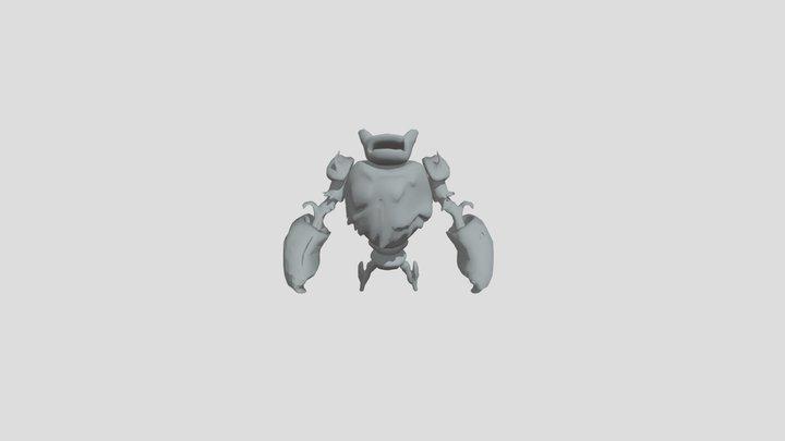 Forest Golem Hit 2 3D Model