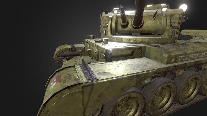 Comet Tank Turret Pose 3D Model