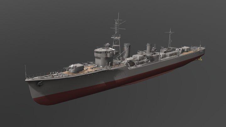 IJN Shiratsuyu 3D Model