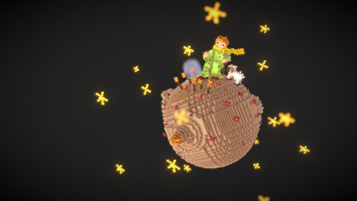 Voxel Planet of the Little Prince / MagicaVoxel 3D Model