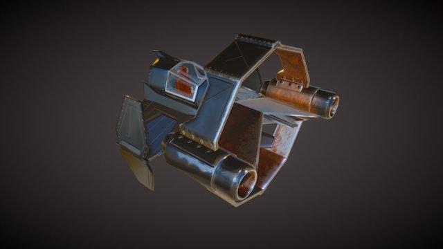 Obiwan Starfighter 3D Model