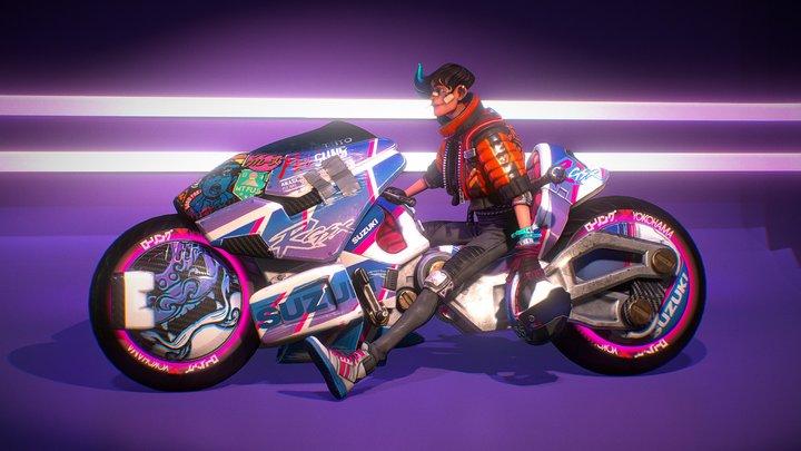 Akira Biker 3D Model