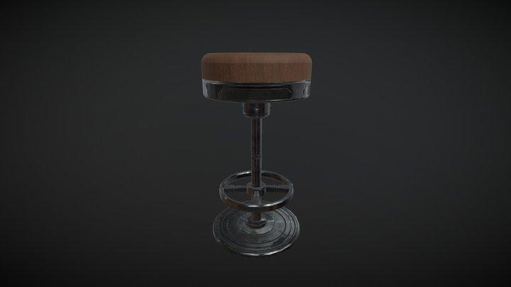 Metal Stool 3D Model