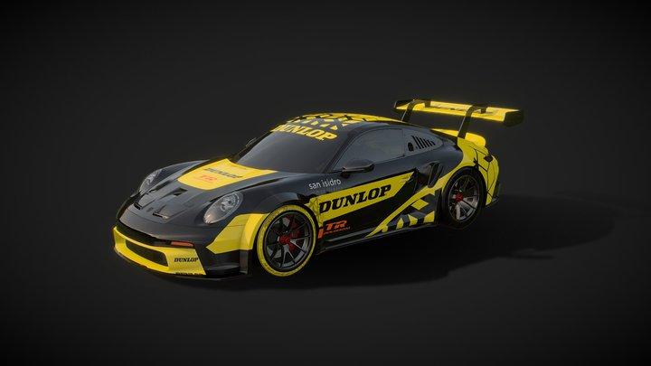 DUNLOP Porsche GT3 2021 Branding 3D Model