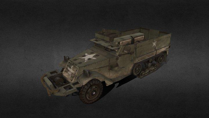 M3 Halftrack 3D Model