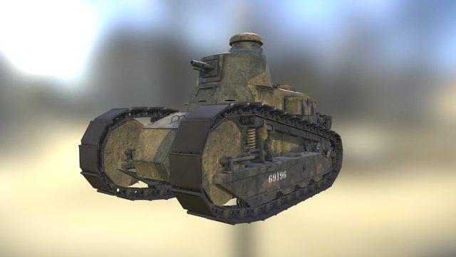 Renault FT-17, French Light Tank 3D Model