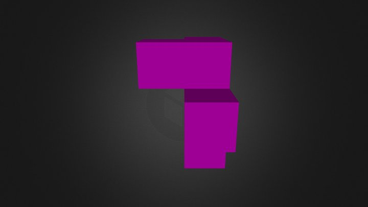 Purple cube 3D Model