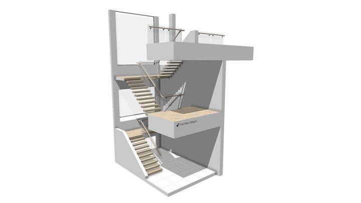 Hargrave revised 3D Model Side Fixed railed 3D Model