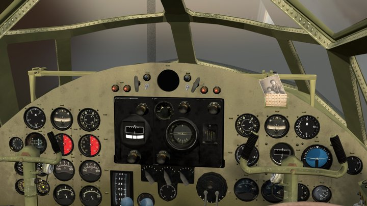 Mitsubishi G4M1 Cockpit (Work in progress) 3D Model