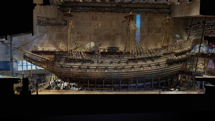 the Vasa warship museum. 3D Model