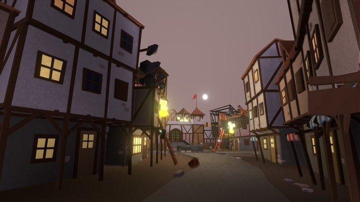 Dragon Attack Aftermath 3D Model