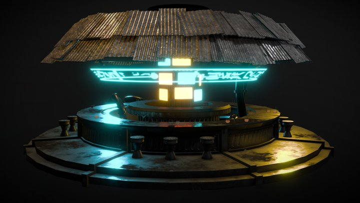 Sci-Fi Bar 3D Model