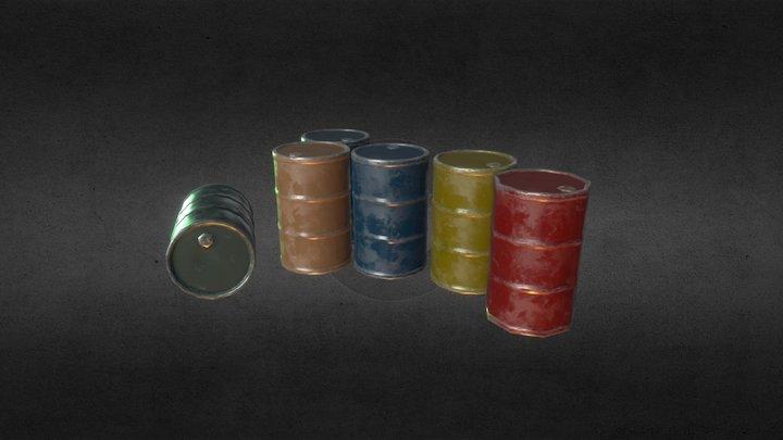 Oil Barrel Prop 3D Model