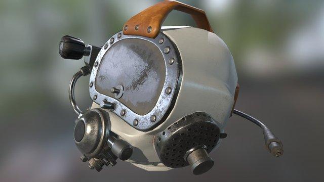 PBR Diving Helmet 3D Model