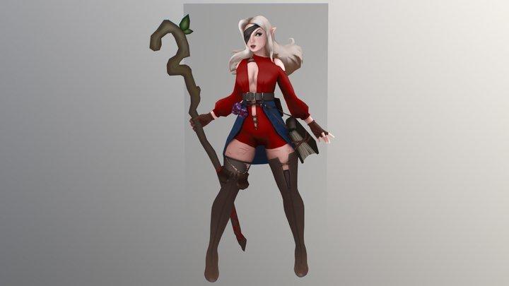 Mage cutie 3D Model