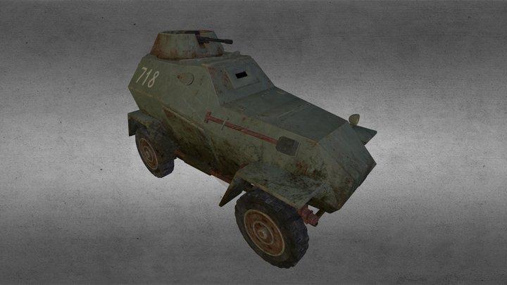BA-64 light armored car 3D Model