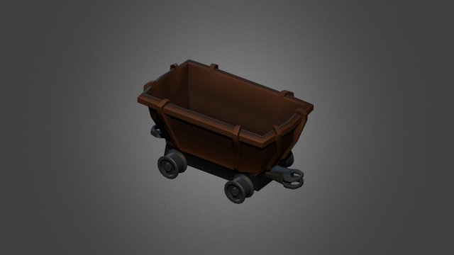 Mine Cart Emty 3D Model