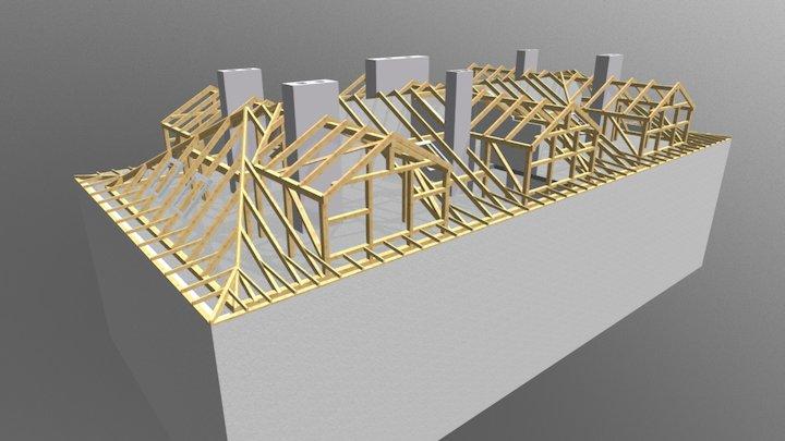 Poznań więźba 3D Model