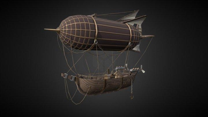 Ship Low-Poly UV Test 3D Model
