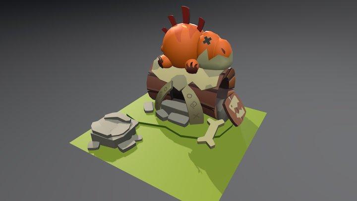 Cave Log 3D Model