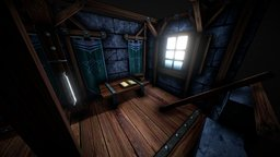 Damage Castle Tower Room 3D Model