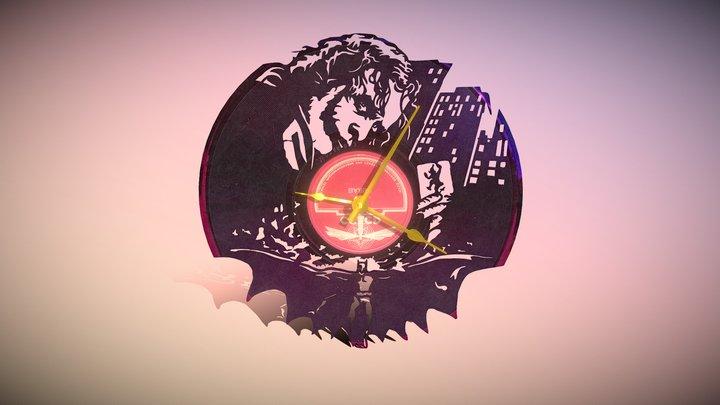 Clock Vinyl Batman 3D Model