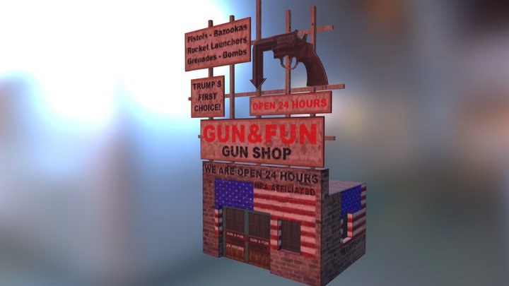 GUN AND FUN PAPERCRAFT BY PAPERMAU 20171 3D Model
