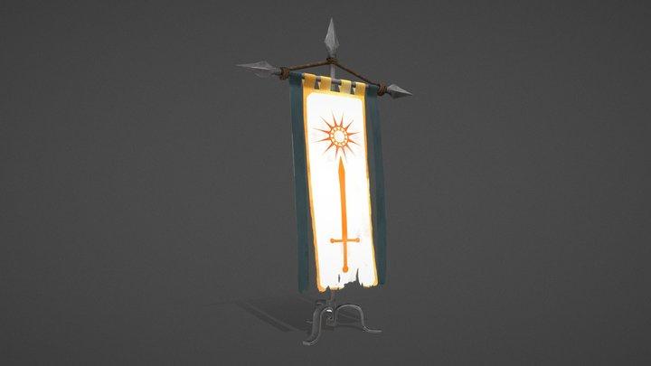 Purgatory - Holy Banner 3D Model