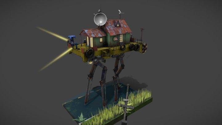 Walking House 3D Model