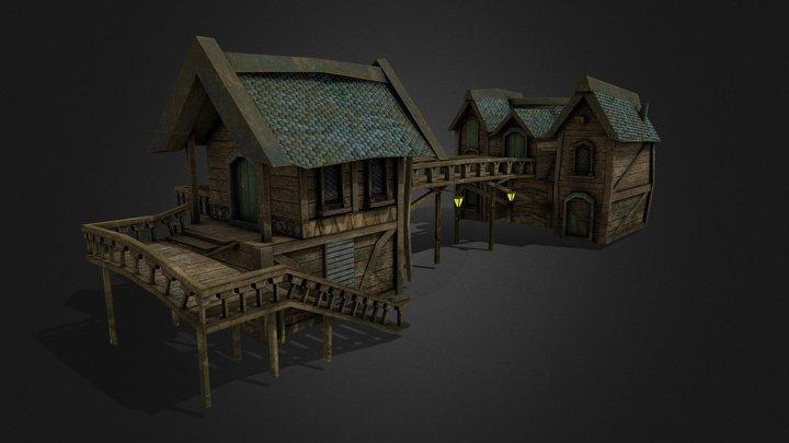 Lake Town House 3D Model