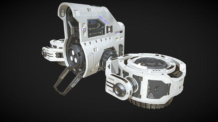 Bo-Bot Drone 3D Model