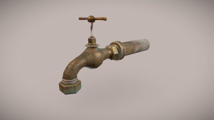 Garden Water tap 3D Model
