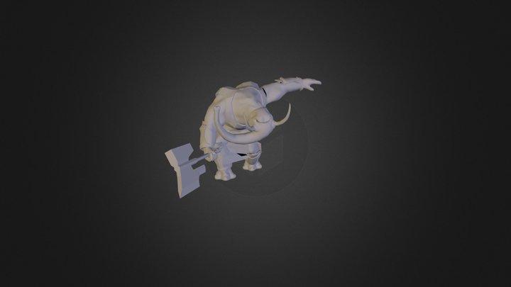 Elephant Warrior  3D Model