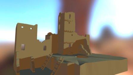 Blender 3d model Cliff Palace 3D Model