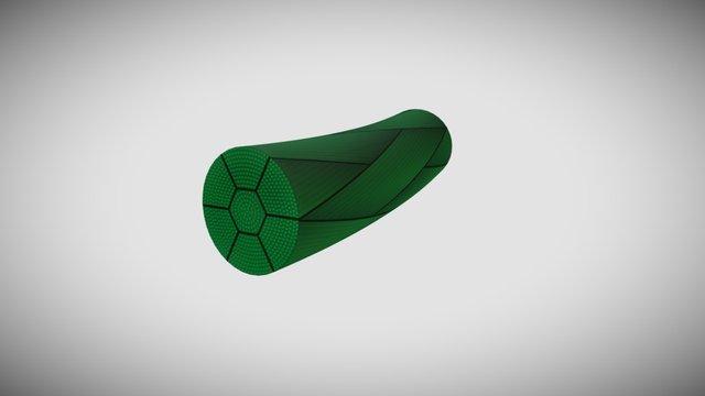 Fil tresse vert 3D Model