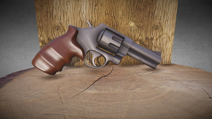 Gun Smith And Wesson 625 3D Model