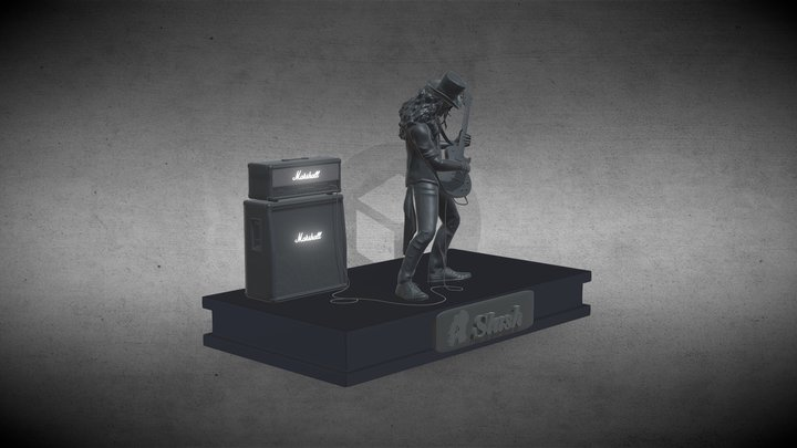 Slash - Saul Hudson 3D Model