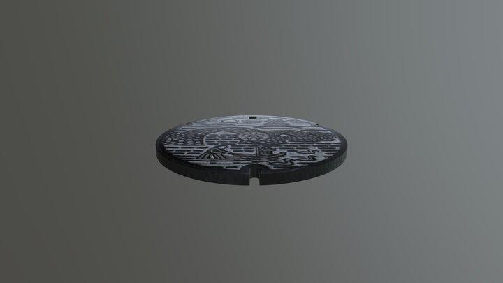 Manhole Cover 5 3D Model