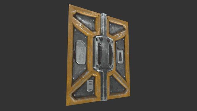 Sci Fi Corridor Door 3D Model