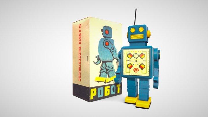 "Clockwork toy ""Robot"", USSR, 1970s 3D Model"
