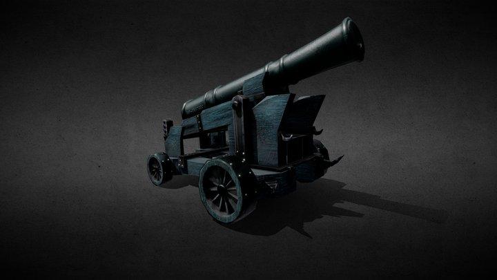 Shadow Naval Cannon: Ash-Mk47200 3D Model