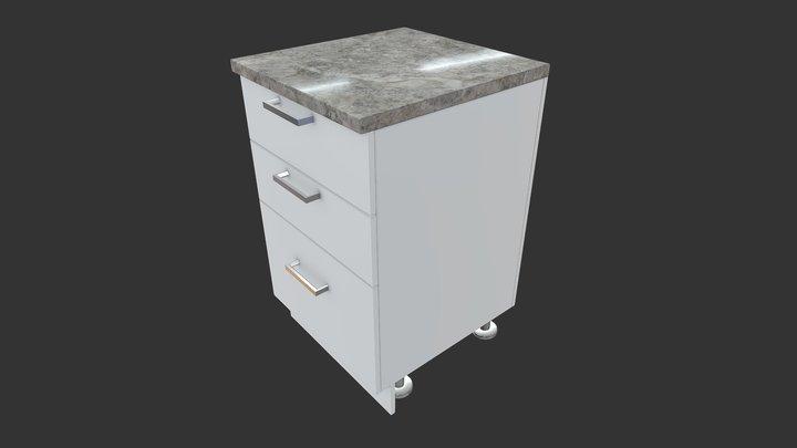 Cabinet Base Drawer 3D Model