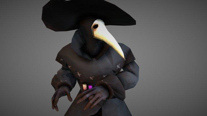 Plague Doctor Character 3D Model