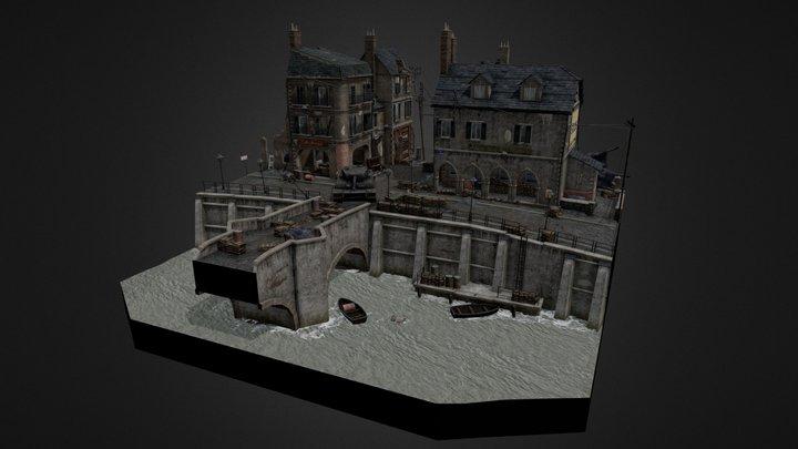 WW2 CityScene - Ramelle 3D Model