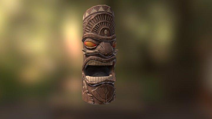 Hawaiian Tiki Statue (3 of 3) 3D Model