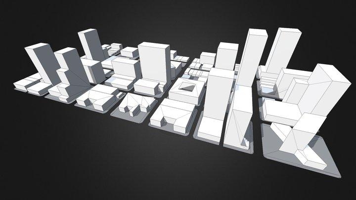 Low-Poly Modular City Blocks 3D Model