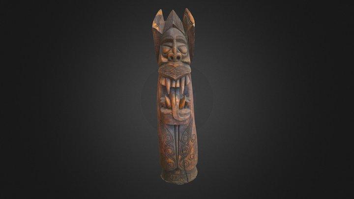 Wooden Head 3D Model