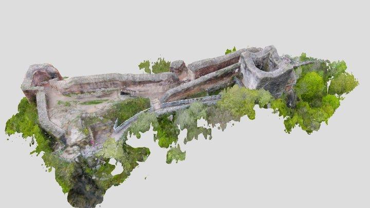Medieval Castle of Dracula -Poienari- by FAE 3D Model