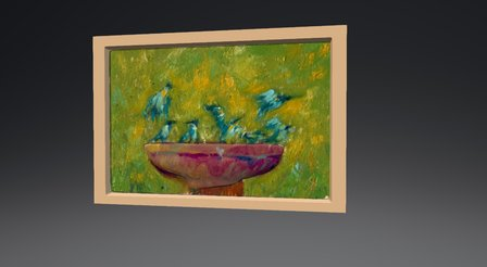 Birds in a pound - painting 3D Model